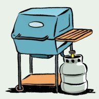 Store Elsewhere: Propane should always be stored outside!