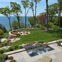 Best Front Yard landscaping Ideas - Best ideas for the garden, backyard, patio! Sloped Backyard, Sloped Garden, Backyard Patio, Steep Backyard, Hillside Garden, Backyard Ideas, Patio Design, Garden Design, Landscaping On A Hill