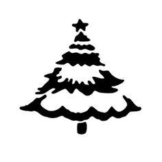 Christmas Tree Stencil 02