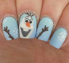 Olaf nails www.devinelockets.origamiowl.com