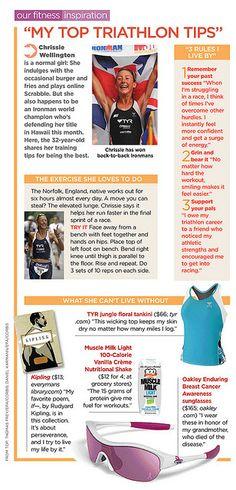 Triathlon tips by Chrissie Wellington