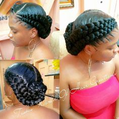 Best 25 Goddess braids ideas on goddess braids # goddess Braids with weave # goddess Braids with weave Box Braids Hairstyles, Natural Hair Updo, Natural Hair Styles, Twisted Hair, Ghana Braids, 4 Braids Cornrows, Senegalese Twists, Braids With Weave, Jumbo Braids