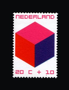 Dutch stamp    The Child & The Cube by William Pars Graatsma