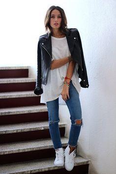 Alex's Closet - Iro Jacket, Asos Jeans, Vans Shoes - White leather