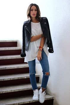 Alex's Closet - Iro Jacket, Asos Jeans, Vans Shoes - White leather