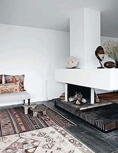 fire place via the style files,