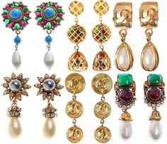chanel vintage earrings/ yes want them all!