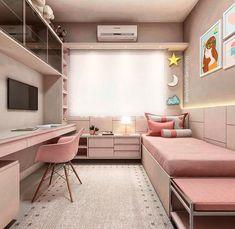34 lovely dorm room organization ideas on a budget 23 Room Design Bedroom, Girl Bedroom Designs, Home Room Design, Small Room Bedroom, Bedroom Decor, Teen Bedroom Colors, Tiny Bedrooms, Bedroom Kids, Trendy Bedroom