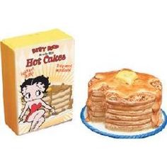 Image detail for -Betty Boop Pancakes - Salt and Pepper shakers from Vandor | ThisNext