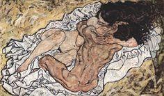 The Hug 1917 Abordamos a obra do genial pintor austríaco Egon Schiele responsável, junto a Gustav Klimt e Oskar Kokoschka, pelo expressionismo na Áustria. Gustav Klimt, Gustav Mahler, Love Painting, Painting & Drawing, Galerie Creation, Oil On Canvas, Canvas Art, Painting Canvas, The Embrace