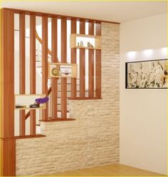 Shocking Amazing design of the partition beautiful space Living Room Partition Design, Living Room Divider, Room Divider Walls, Room Partition Designs, Living Room Decor, Home Stairs Design, Interior Stairs, Home Interior Design, House Design