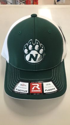 f4336bd8a5421a Northwest Missouri State Stretch Fit 172 Green/White Hat by Richardson