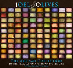 """""""The Artisan Collection"""" by Joel Olives.  Download 100 High Resolution Textures for $25 with this coupon code FB5OFF at www.joelolives.com"""