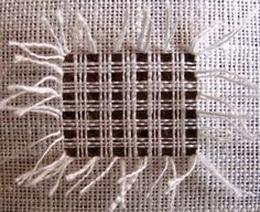 Hand Embroidery Tutorial, Hand Embroidery Designs, Embroidery Patterns, Hardanger Embroidery, Diy Embroidery, Broderie Bargello, Sewing Crafts, Sewing Projects, Diy Crafts