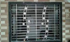 Stainless Steel Window Grill Iron Window Grill, Grill Gate Design, Window Grill Design Modern, House Main Gates Design, Balcony Grill Design, Iron Gate Design, Railing Design, Window Design, Steel Grill Design