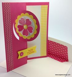 Love the new card flip dies, and of course this card uses some of my favorite colors! FlipCardAngiesMusings