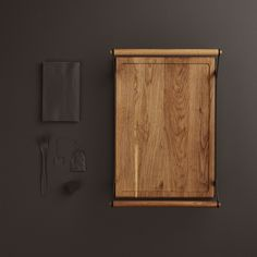 KOLLEKT Serving Tray from Gejst carried out in solid oak. The handles on the tray makes it possible to serve sweets and snacks in a stable and easy way. Black Tray, Bright Homes, Dark Colors, Solid Oak, Wall Lights, Restaurant, House Styles, Interior, Inspiration