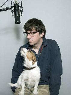 Graham Coxon with his dog Frankie