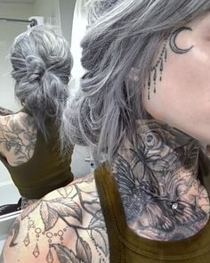 Likes, 301 Comments - Ryan Ashley Malarkey ( on Instag. Ryan Ashley Malarkey, Full Neck Tattoos, Sexy Tattoos, Body Art Tattoos, Grey Hair And Tattoos, Tattoo Girls, Girl Tattoos, Tatoos, Ryan Ashley Tattoo