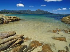 Wineglass Bay, Freycinet National Park, Tasmania, Australia as presented by: Beautiful Places To Visit Beautiful Places To Visit, Oh The Places You'll Go, Beautiful Beaches, Cool Places To Visit, Places To Travel, Tasmania, Australia Wallpaper, Reserva Natural, Montenegro