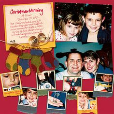Use A Punch To Crop Detail Photos -- Christmas Scrapbooking Page Layout Idea