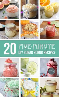 Check out these 20 homemade sugar scrub recipes that are fun to keep or give away as gifts. A quick diy sugar scrub to make at your next girls night.