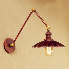 Antique Retro Loft Industrial Wall Lamp Vintage Aplik Swing Long Arm Wall Light Edison LED Wall Sconce Applique Murale Luminaire #Affiliate