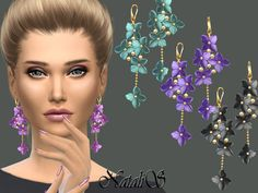 Sims 4 CC's - The Best: NataliS_Flower shape gentle drop earrings