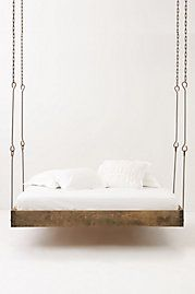 I am not sure if we could handle a hanging bed, but there would be a lot less stubbed toes