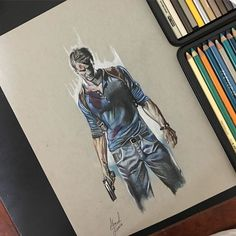 "Nathan Drake "" UNCHARTED "" #art#drawing#artist#sketch#Dubai#AD#mydubai#mydrawing#myabudhabi#uncharted4#ps4#gulf#alain#UAE#ps4games by cadilac888"