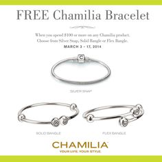 chamilia bracelets | ... you will be able to get a free chamilia bracelet when you purchase