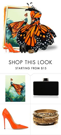 """""""Butterfly Wings"""" by majezy ❤ liked on Polyvore featuring Jimmy Choo, Amrita Singh and BaubleBar"""