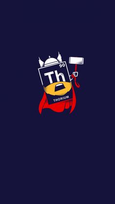 Tap image for more funny minion iPhone wallpaper! Thorium - @mobile9 | Wallpapers for iPhone 5/5S, iPhone 6 & 6 Plus #marvel #Thor #minion