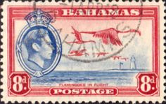 Bahamas 1938 George VI Flamingoes in Flight SG 160 Fine Used Scott 108 Other Bahamas Stamps HERE
