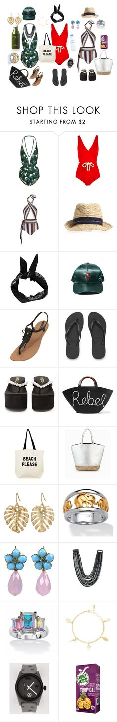 """For friends"" by ira-malakhova ❤ liked on Polyvore featuring ADRIANA DEGREAS, Lisa Marie Fernandez, Karla Colletto, Boohoo, WithChic, IPANEMA, Havaianas, Rocket Dog, Eugenia Kim and Fallon & Royce"