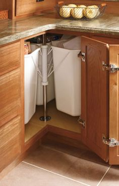 Outside corner kitchen cabinets for the home pinterest for Lowes semi custom bathroom cabinets