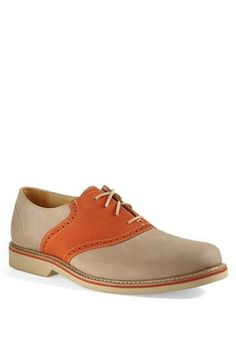 Spring saddle shoes for him