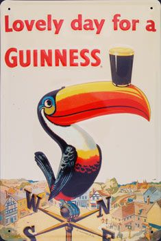 Believed to be the first appearance of the Guinness toucan, by John Gilroy