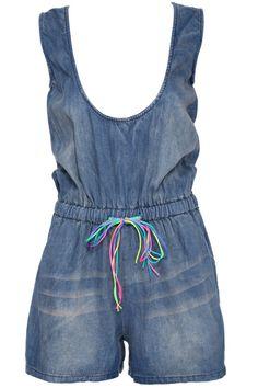 http://www.romwe.com/romwe-drawstring-blue-sleeveless-denim-playsuit-p-86414.html?Pinterest=fyerflys Drawstring Blue Sleeveless Denim Playsuit, The Latest Street Fashion