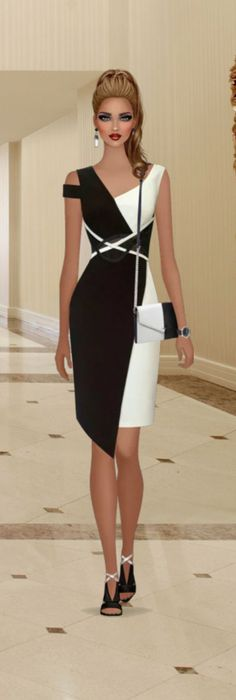 Remove the side shoulder strap, even out the hemline, and lose the purse.