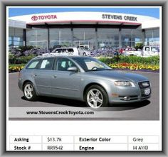 2007 Audi A4 2.0T Avant quattro Wagon   Overall Width: 69.8, Max Cargo Capacity: 59 Cu.Ft., Intercooled Turbo, Tachometer, Rear Seats Center Armrest, 4-Wheel Abs Brakes, Rear Area Cargo Cover: Roll-Up, Power Windows, Fuel Consumption: City: 22 Mpg, Side Airbag, Wheel Diameter: 16, Power Remote Passenger Mirror Adjustment, Front And Rear Reading Lights, Stability Control, Aluminum Door Trim,