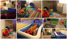 Simply Blessed Journey of Life: DIY Occupational Therapy & Play Room (in our Unfinished Basement)