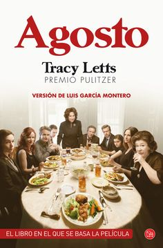 """""""Agosto"""" de Tracy Letts. Leído por los Clubes de Lectura de la Biblioteca Pública de Soria.  http://rabel.jcyl.es/cgi-bin/abnetopac?SUBC=BPSO&ACC=DOSEARCH&xsqf99=1736801.titn.+"""