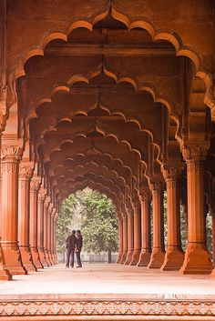Red Fort - New Delhi, India. You used to be able to take a tour on an elephant.