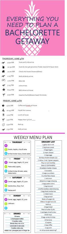 1000+ ideas about Bachelorette Itinerary on Pinterest | Bachelorette ...