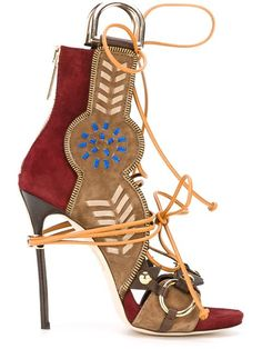 Shop Dsquared2 lace-up sandals  in Tiziana Fausti from the world's best independent boutiques at farfetch.com. Shop 300 boutiques at one address.