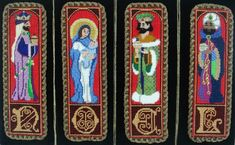 Raymond Crawford is the designer of this great needlepoint Nativity set.