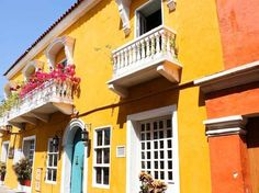 As casas da colombiana Cartagena das Índias têm preservado estilo colonial Foto: Shutterstock