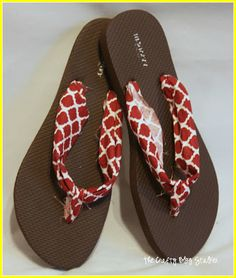 how to make flip flops with fabric