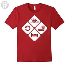 Men's Water Polo Eat Sleep Repeat Shirt - Water Polo Gift Ideas 3XL Cranberry - Eat sleep repeat t shirts (*Amazon Partner-Link)